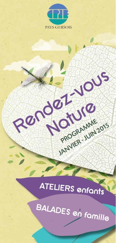 RDV Nature CPIE Pays Gersois Janvier Juin 2015 Couverture